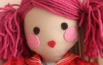Как сделать лицо куклы из капроновых колготок?