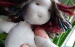 Изготовление куклы из капроновых колготок