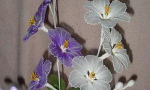 Чем покрасить капроновые цветы?