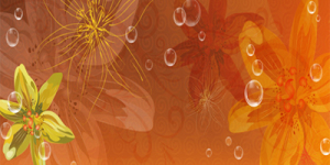 Капрон с цветочками