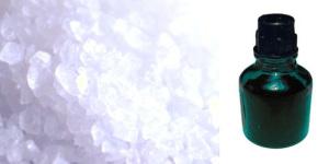 Соль и зеленка как подручные средства отбеливания капроновой тюли