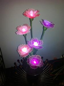 цветы из капрона 2