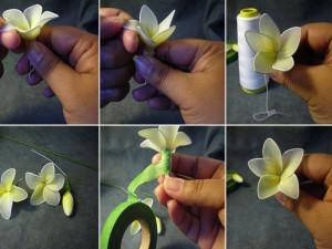цветок из капрона 2